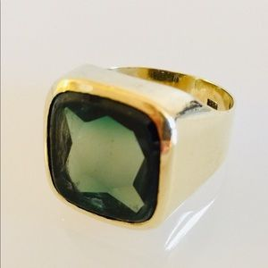 Men's Gold Spinel ring- 8k yellowgold